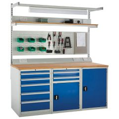System Tek - Blue Double Cabinet Kit F with Accessories