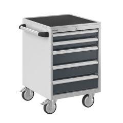 Bisley ToolStor Mobile Drawer Cabinet, 5 Drawer