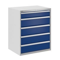 Bisley ToolStor Drawer Cabinet, 900 x 750mm, 5 Drawer