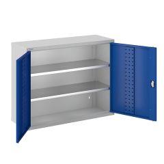 ToolStor W1000 x D350mm 2 Shelf Wall Cupboard - Blue Doors
