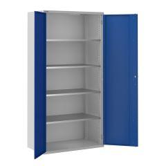 ToolStor D550mm 4 Shelf Tall Storage Cupboard - Blue Doors