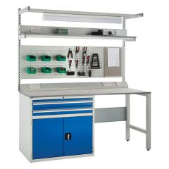 900 System Tek - Single Blue Cabinet Kit F with Accessories