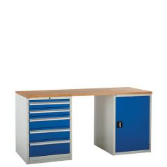 System Tek - Blue Double Cabinet Kit D