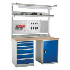 System Tek - Blue Double Cabinet Kit B with Accessories