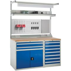 System Tek - Blue Double Cabinet Kit C with Accessories