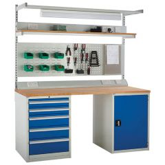 System Tek - Blue Double Cabinet Kit D with Accessories