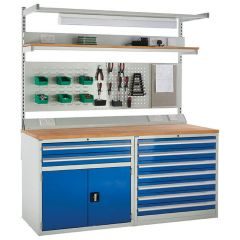 System Tek - Blue Double Cabinet Kit E with Accessories