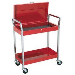 Sealey 2 Shelf Trolley with Lockable Top