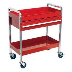 Sealey 2 Shelf Trolley with Lockable Drawer