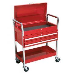 Sealey 2 Shelf Trolley with 2 Lockable Drawers