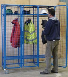 Wire Mesh Locker - Mobile with Padlockable Doors