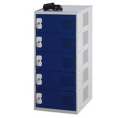 Connex Laptop Charging Lockers - 5 Comp & Doors