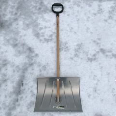Snow shovel with galvanised blade