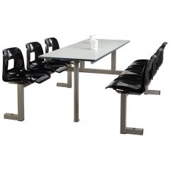 6 Seater Canteen Unit- Double Entry, Charcoal seats
