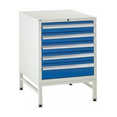 5 Drawer - 600 Euroslide Cabinet on Stands