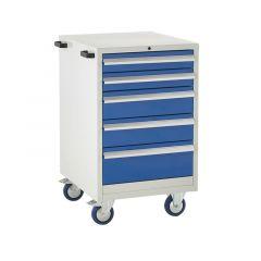 600 Euroslide Mobile Cabinets - 5 Drawer (2x 100mm).