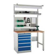 600 System Tek - Single Cabinet Kit C with Accessories blue