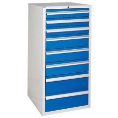 600 XL Euroslide 8 Drawer Cabinet - Blue
