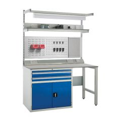 900 System Tek - Single Cabinet Kit D with Accessories blue