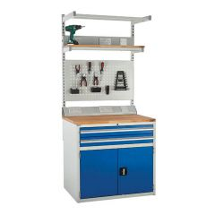 900 System Tek - Single Cabinet Kit B with Accessories blue