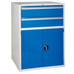 900 XL Euroslide 2 Drawer Cabinet - 2 x 200mm  Blue