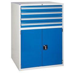900 XL Euroslide 4 Drawer Cabinet - Blue