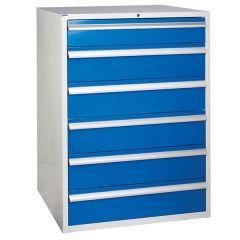 900 XL Euroslide 6 Drawer Cabinet - Blue
