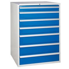 900 XL Euroslide 7 Drawer Cabinet - Blue