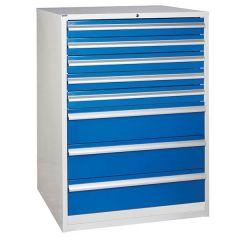 900 XL Euroslide 8 Drawer Cabinet - 5 x 100mm - Blue