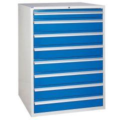 900 XL Euroslide 8 Drawer Cabinet - 7 x 150mm - Blue