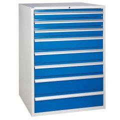 900 XL Euroslide 8 Drawer Cabinet  - Blue