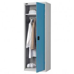 Probe Slim Wardrobe Cupboard - Silver Body - Blue Door