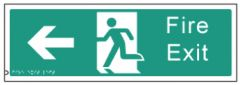 Braille Sign - Fire Exit Left, 450 x 150mm
