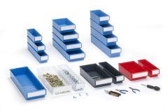 Coloured Shelf Bins
