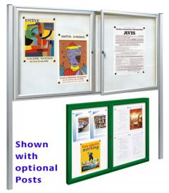 Dual Door Outdoor Loackable Notice Boards
