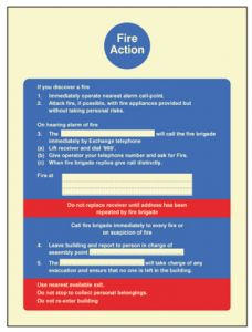 Fire Action - Fire service dialled manually