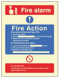 Fire Action call point without lift