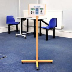A4 Signage Stand - Yellow