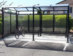 Voute Cycle Shelter + Extension Bay