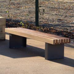 Steel Frame Hardwood Timber Bench