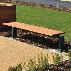 Steel Framed Bench with Hardwood Timber Slats