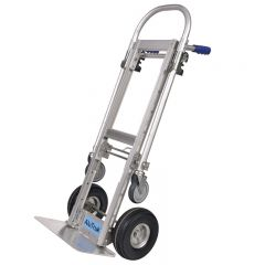 Alutruk Aluminium Convertible Handtruck 500kg - being used in the Sack Truck position.