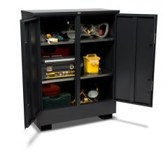 Armorgard TuffStor Cabinet, Weight 112.5kg version shown full of power tools.