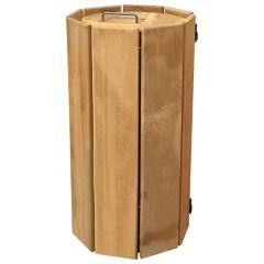 Avebury Octagonal Wooden Litter Bins - 100 Litre