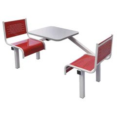 Spectrum Canteen Furniture 2 Seater, Red - Single entry