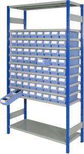 Boltless shelving Kit B with shelf trays