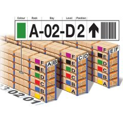 Coded Shelf and Racking Labels