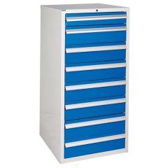 600 XL Euroslide 8 Drawer Cabinet - 7 x 150mm - Blue