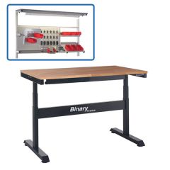 Binary Electric Height Adjustable Workbenches - Beech