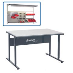 Binary Height Settable Workbench - Laminate - Above Bench Accessories available